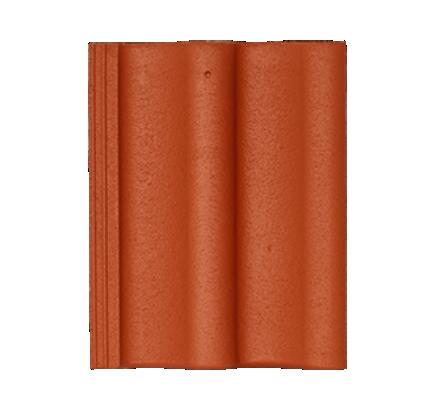 Цементно-песчаная черепица Sea Wave кирпично-красный