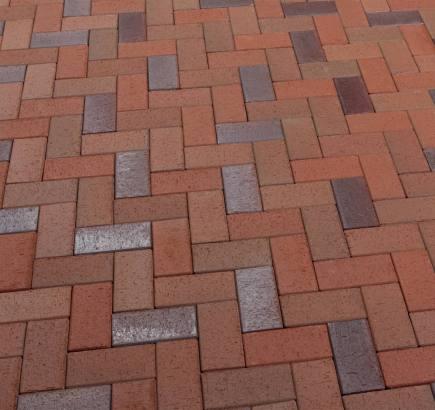 Тротуарная клинкерная брусчатка Feldhaus Klinker 405 gala alea SKF