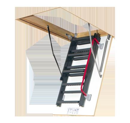 Чердачная лестница металлическая Fakro LMK, 70х120х280 см