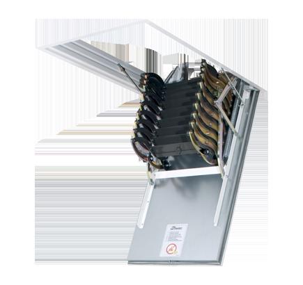Чердачная лестница металлическая Fakro LSF, 50х70х300 см