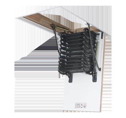 Чердачная лестница металлическая Fakro LST, 60х90х280 см