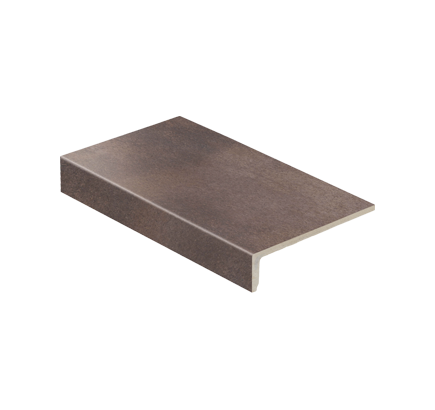 Клинкерная ступень прямоугольная Stroeher Aera T 712 maron, 294х175 мм