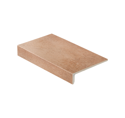 Клинкерная ступень прямоугольная Stroeher Aera 750 rubeo, 294х175 мм