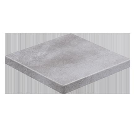 Клинкерная ступень прямоугольная угловая Stroeher Aera T 705 beton, 340х340 мм