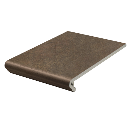 Клинкерная ступень флорентинер Stroeher Asar 640 maro, 294х340 мм