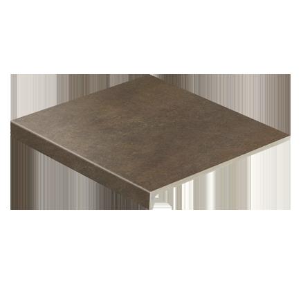 Клинкерная ступень прямоугольная Stroeher Asar 640 maro, 294х340 мм
