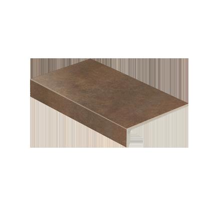 Клинкерная ступень прямоугольная Stroeher Asar 640 maro, 294х175 мм