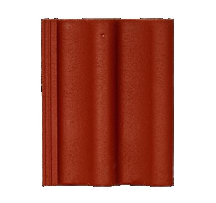 Цементно-песчаная черепица Sea Wave красный