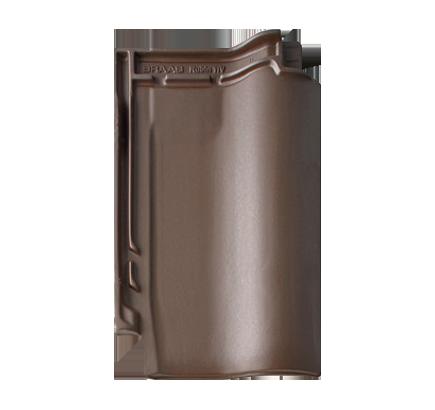 Керамическая черепица Braas Rubin 11V темно-коричневый