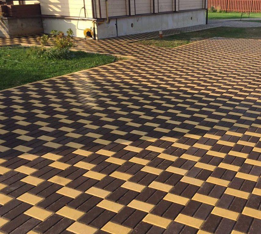 Тротуарная плитка Braer Прямоугольник коричневый, 200х100х40 мм