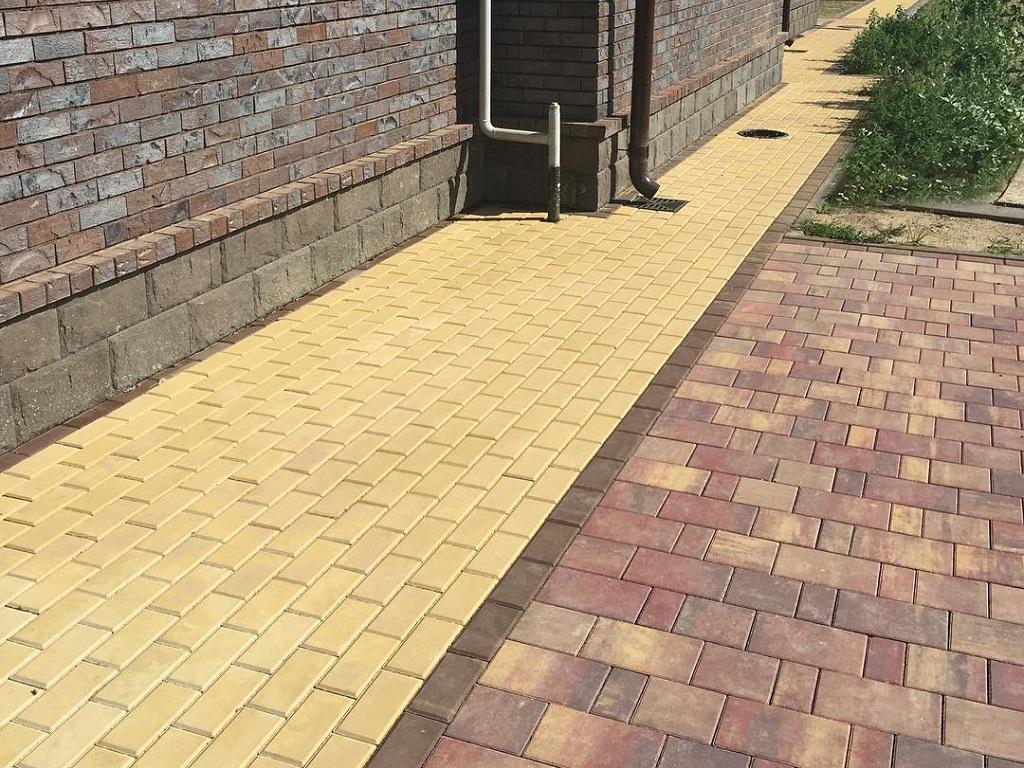 Тротуарная плитка Braer Прямоугольник песочный, 200х100х40 мм