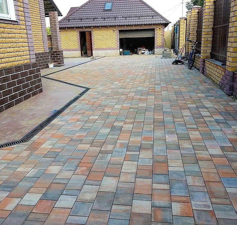 Тротуарная плитка Braer Старый Город Ландхаус ColorMix 4 «Койот»