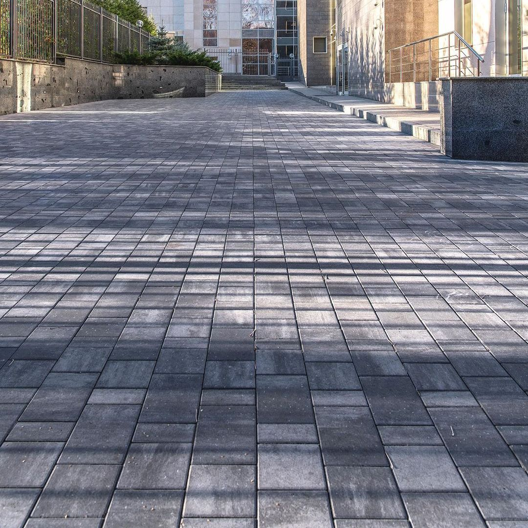 Тротуарная плитка Braer Старый Город Ландхаус ColorMix 7 «Туман»