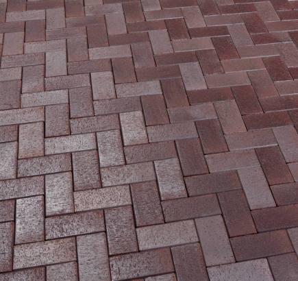 Тротуарная клинкерная брусчатка Feldhaus Klinker 409 gala ferrum KDF