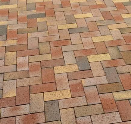 Тротуарная клинкерная брусчатка Feldhaus Klinker 415 gala solea SKF