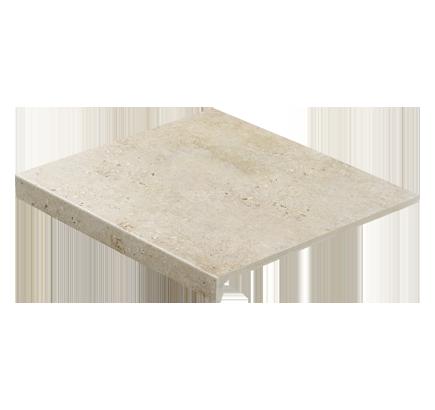 Клинкерная ступень прямоугольная Stroeher Gravel Blend 960 beige, 294х340 мм