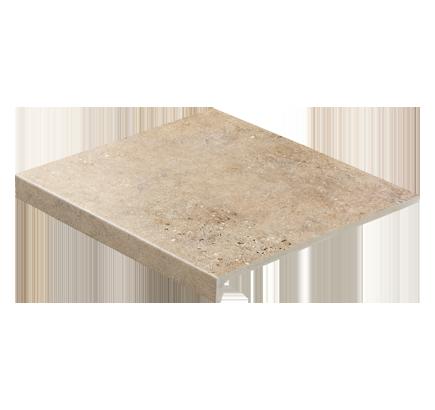 Клинкерная ступень прямоугольная Stroeher Gravel Blend 961 brown, 294х340 мм