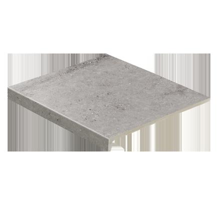 Клинкерная ступень прямоугольная Stroeher Gravel Blend 962 grey, 294х340 мм