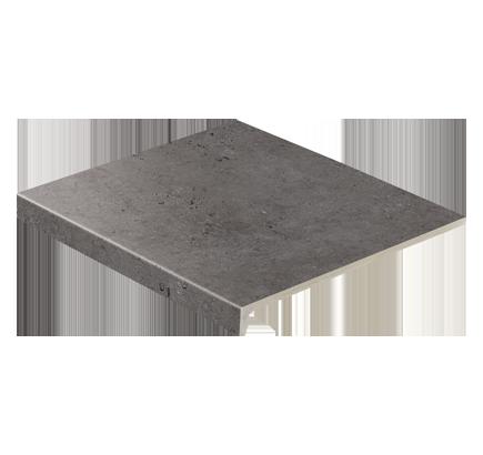 Клинкерная ступень прямоугольная Stroeher Gravel Blend 963 black, 294х340 мм