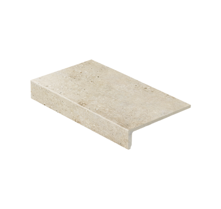 Клинкерная ступень прямоугольная Stroeher Gravel Blend 960 beige, 294х175 мм