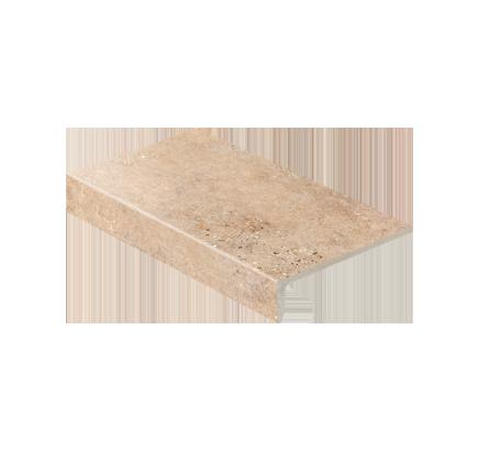 Клинкерная ступень прямоугольная Stroeher Gravel Blend 961 brown, 294х175 мм