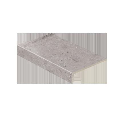 Клинкерная ступень прямоугольная Stroeher Gravel Blend 962 grey, 294х175 мм