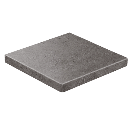 Клинкерная ступень прямоугольная угловая Stroeher Gravel Blend 963 black, 340х340 мм