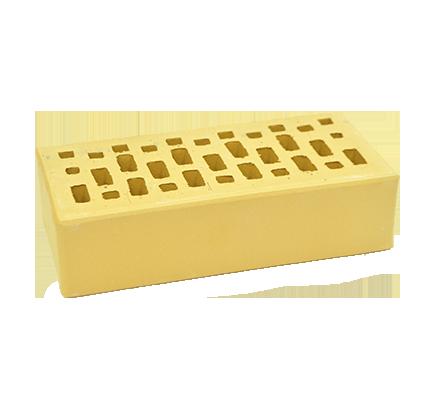 Кирпич лицевой ЛСР пшеничный гладкий одинарный