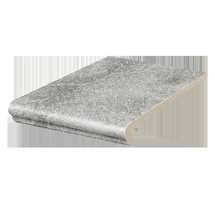 Клинкерная ступень флорентинер Stroeher Roccia 840 grigio, 294х340 мм