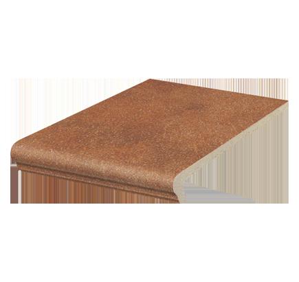 Клинкерная ступень флорентинер Stroeher Roccia 841 rosso, 294х340 мм