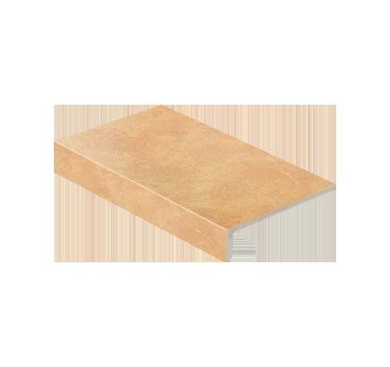 Клинкерная ступень прямоугольная Stroeher Roccia 834 giallo, 294х175 мм
