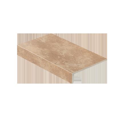Клинкерная ступень прямоугольная Stroeher Roccia 835 sandos, 294х175 мм