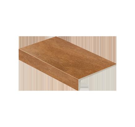 Клинкерная ступень прямоугольная Stroeher Roccia 839 ferro, 294х175 мм