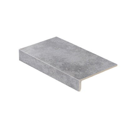 Клинкерная ступень прямоугольная Stroeher Roccia 840 grigio, 294х175 мм