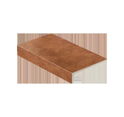Клинкерная ступень прямоугольная Stroeher Roccia 841 rosso, 294х175 мм