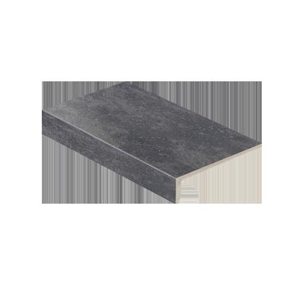 Клинкерная ступень прямоугольная Stroeher Roccia 845 nero, 294х175 мм