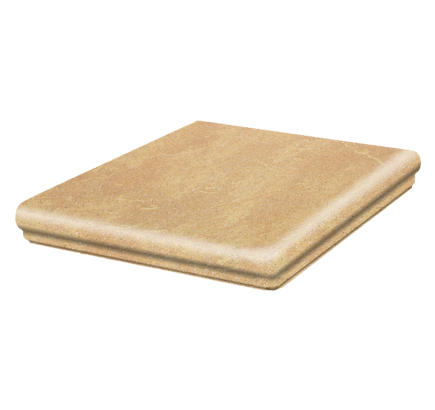 Клинкерная ступень флорентинер угловая Stroeher Roccia 834 giallo, 345х345 мм