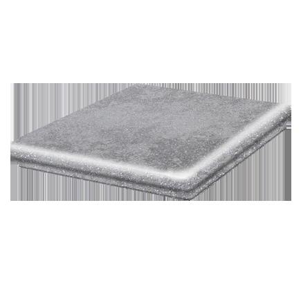 Клинкерная ступень флорентинер угловая Stroeher Roccia 840 grigio, 345х345 мм