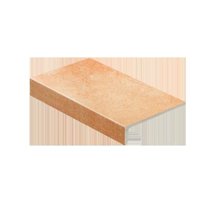 Клинкерная ступень прямоугольная Stroeher Roccia X 927 rosenglat, 294х175 мм