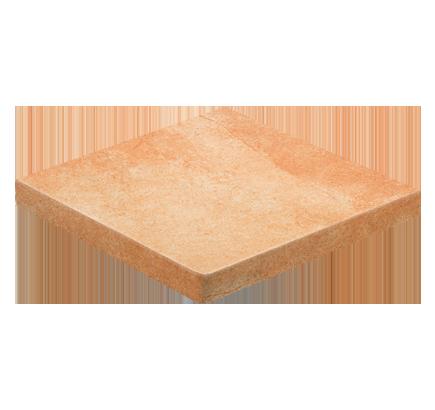 Клинкерная ступень прямоугольная угловая Stroeher Roccia 927 rosenglat, 340х340 мм