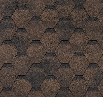 Гибкая черепица Shinglas Финская Соната коричневый