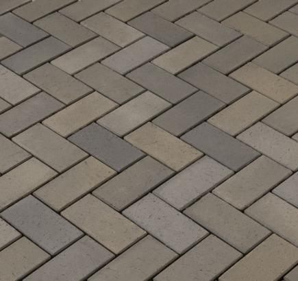 Тротуарная клинкерная брусчатка Vandersanden Leipzing, 200х100х45 мм